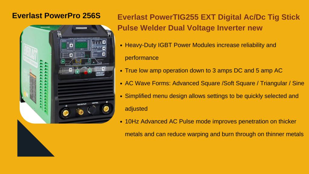 10. EVERLAST POWERTIG 255EXT - Best Home TIG Welder
