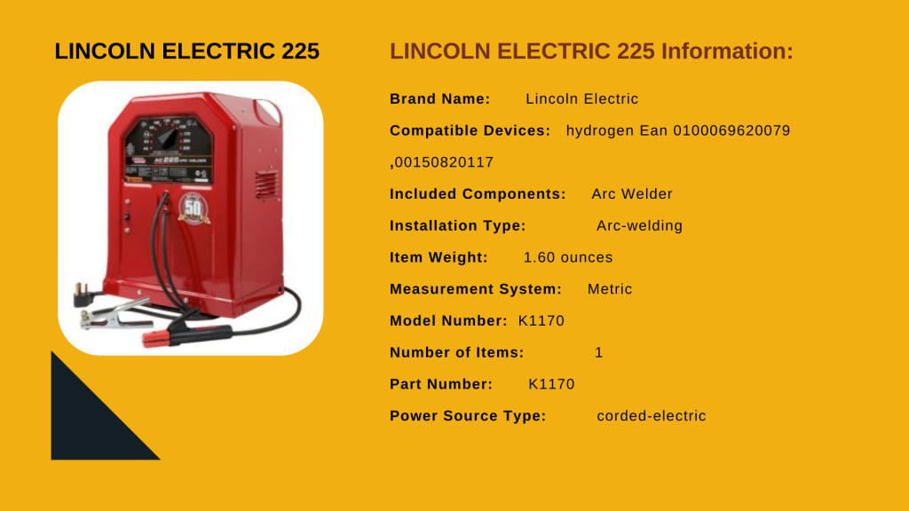 3. LINCOLN ELECTRIC 225 - Best Aluminum Tig Welder For The Money