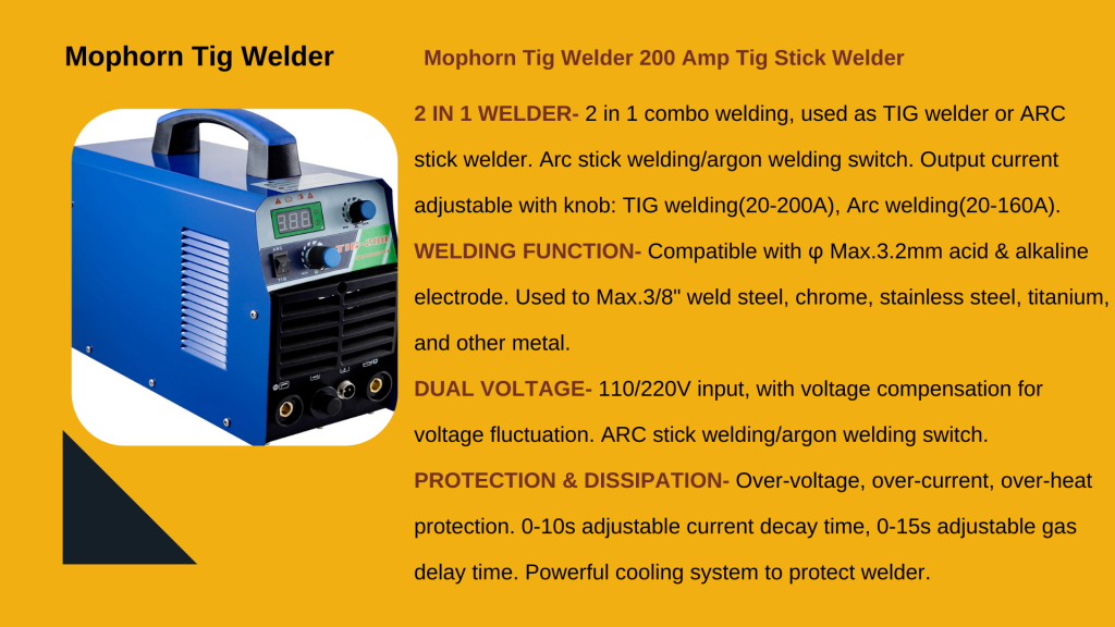 6. MOPHORN TIG-200 TIG WELDER