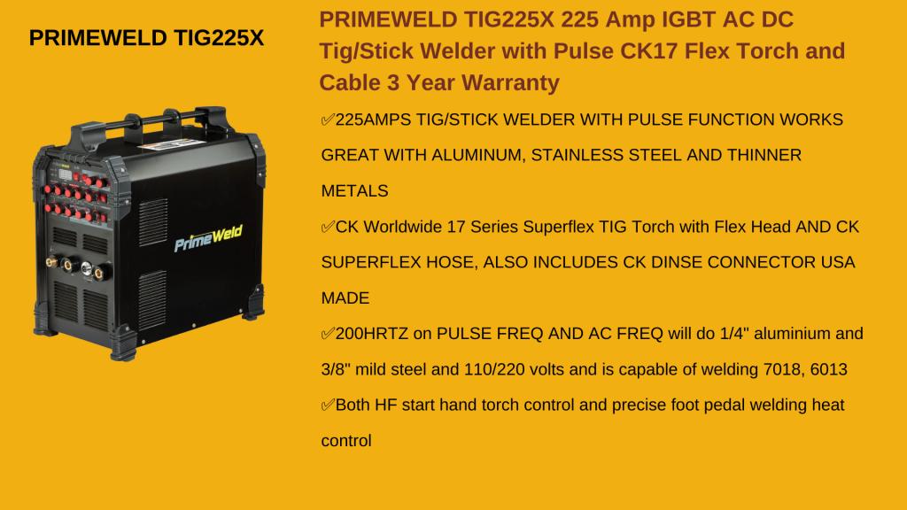 PRIMEWELD TIG225X TIG Welder - Best TIG Welder For Aluminum
