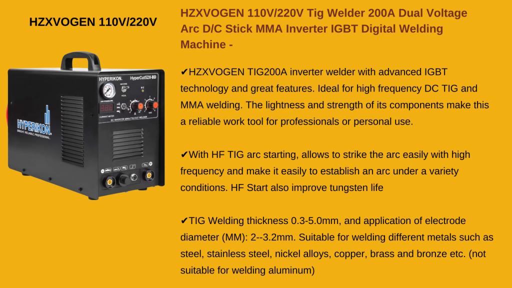 HZXVOGEN 220V TIG ARCH STICK WELDERS - Cheap TIG Welder